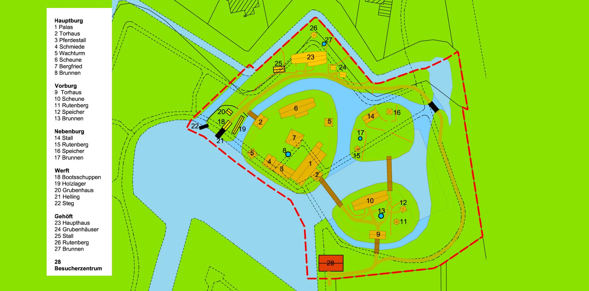 Planskizze des »Castrums Vechtense«